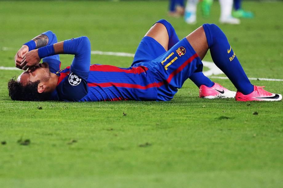 Neymar, do Barcelona, durante partida contra a Juventus, pela Liga dos Campeões