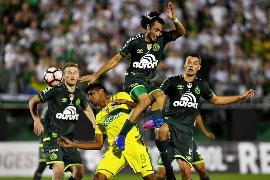 Partida entre Chapecoense e Atlético Nacional, válida pela Recopa Sul Americana 2017, no Estádio Arena Condá em Chapecó (SC) - 04/04/2017