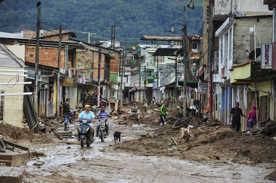 Área destruída pelas chuvas em Mocoa, na Colômbia - 02/04/2017