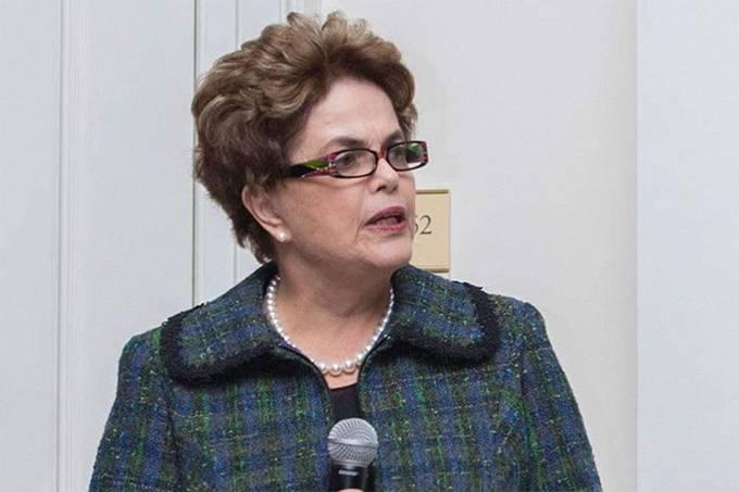 A ex-presidente Dilma Rousseff durante a Brazil Conference em Harvard, nos EUA