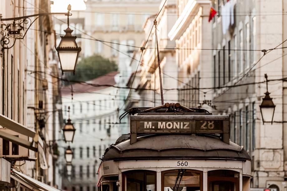 Bondinho nas ruas de Lisboa