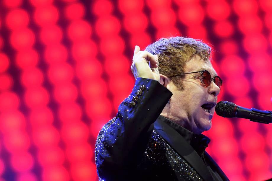 Show do cantor Elton John no estádio Allianz Parque, em São Paulo - 06/04/2017