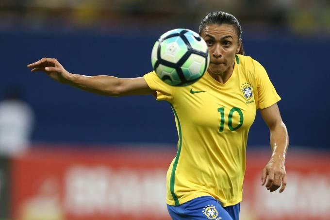 Marta durante amistoso Brasil x Bolívia em Manaus
