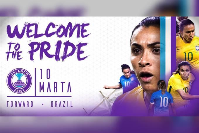 Marta é anunciada como reforço Orlando Pride dos Estados Unidos
