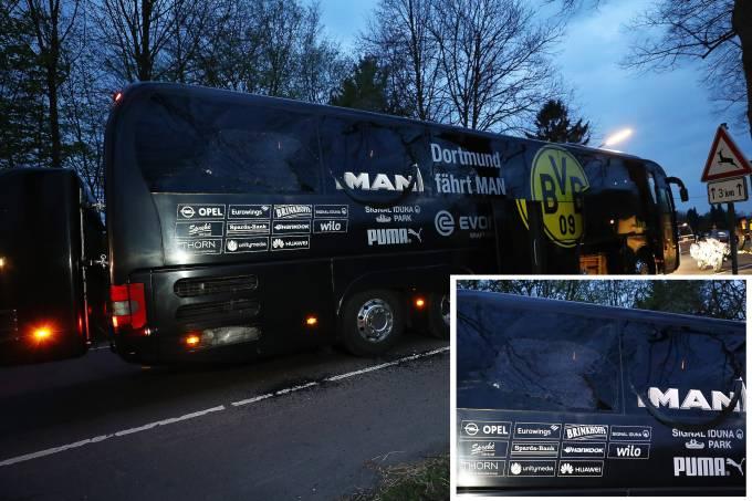 Ônibus do Borussia Dortmundo é alvo de explosivo