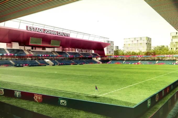 """Estádio """"Johan Cruyff"""" do Barcelona"""