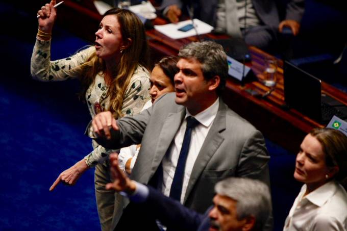 Gritaria Senado foto Ariel Costa