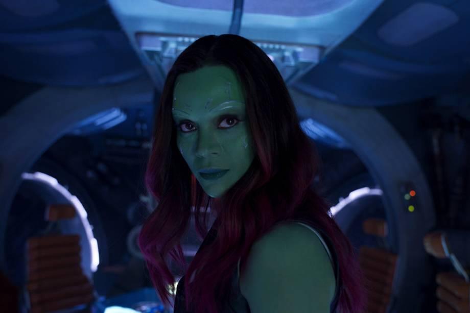 Gamora (Zoe Saldana) em Guardiões da Galáxia 2