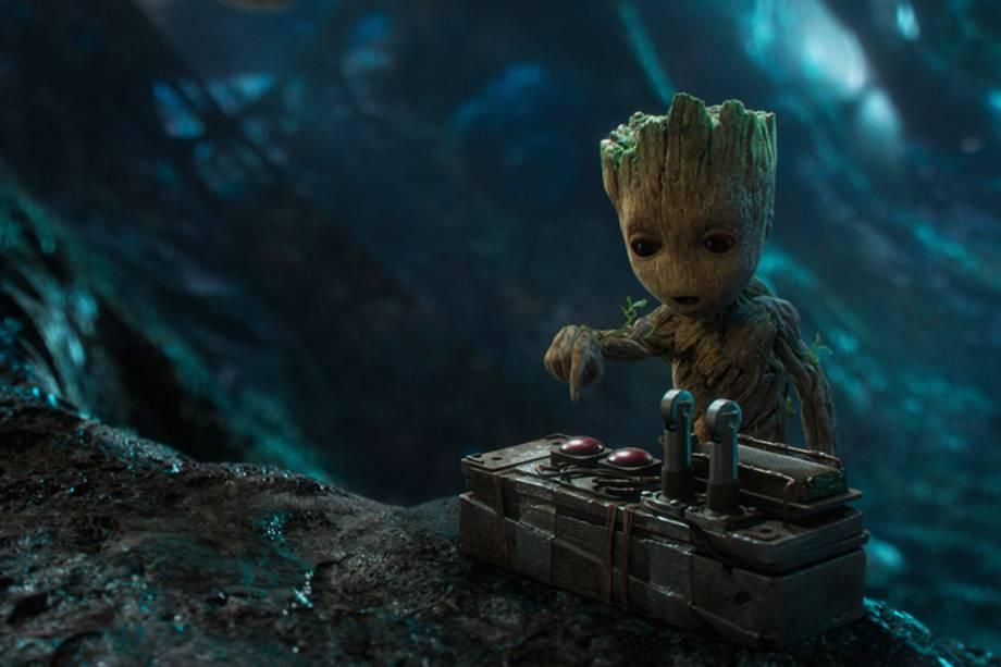 Baby Groot, dublado por Vin Diesel, em Guardiões da Galáxia 2