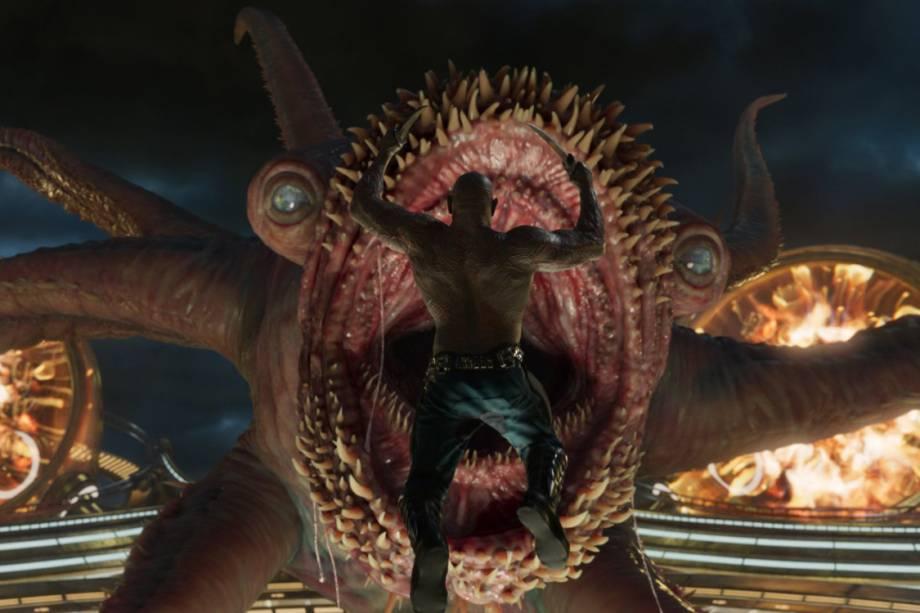 Drax (Dave Bautista) em Guardiões da Galáxia 2