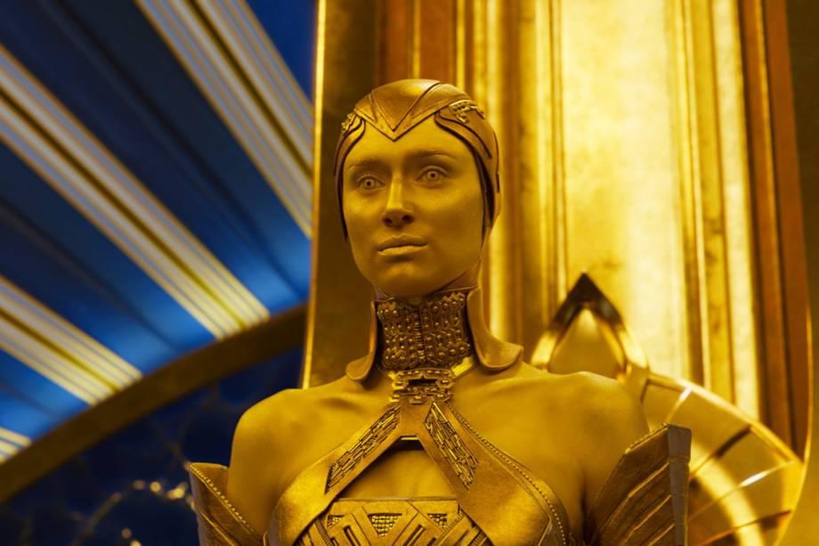Ayesha (Elizabeth Debicki) em Guardiões da Galáxia 2