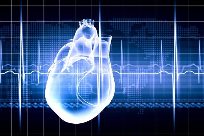 Ilustração de um coração humano