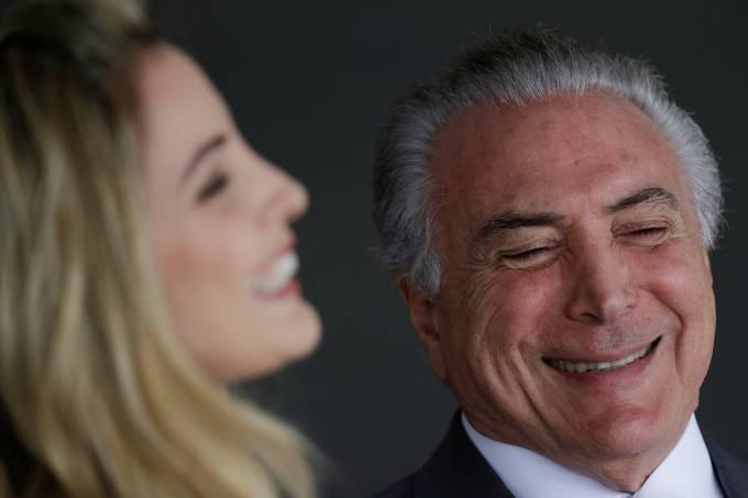 Michel e Marcela Temer recebem o rei da Suécia em Brasília