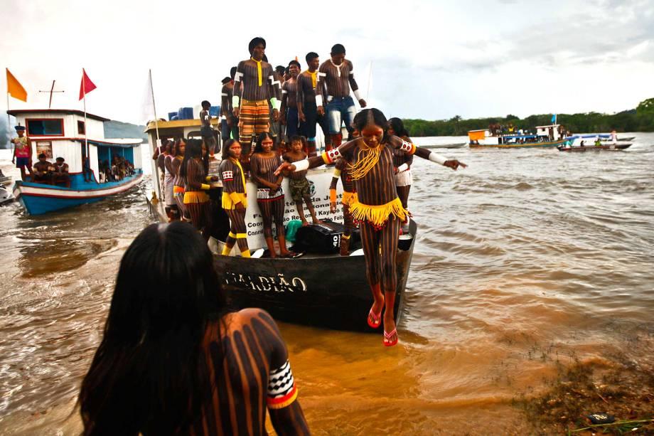 Mais de dez etnias indígenas compareceram ao evento Semana dos Povos Indígenas em São Félix do Xingu, no Pará, um evento que promove debates sobre políticas públicas e ações de cidadania e saúde para a comunidade indígena