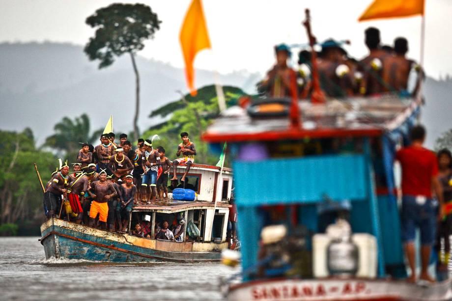 Cerca de quatro mil indígenas participaram da Semana dos Povos Indígenas, que começou no sábado (15) em São Félix do Xingu, no Pará, e se prolongou esta quarta-feira(19), Dia do Índio