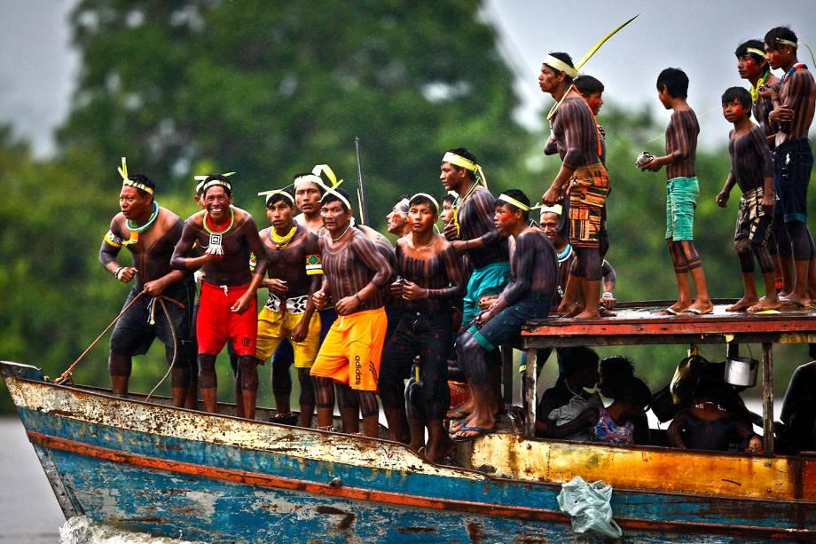 Cerca de quatro mil indígenas participaram da Semana dos Povos Indígenas, que começou no sábado (15) em São Félix do Xingu, no Pará, e se prolongou até esta quarta-feira(19), Dia do Índio
