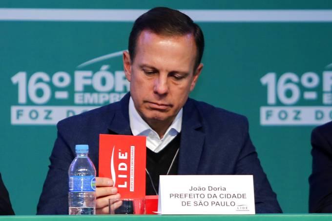 João Doria, prefeito de São Paulo, durante o 16º Fórum Empresarial Foz do Iguaçu, da sua empresa Lide