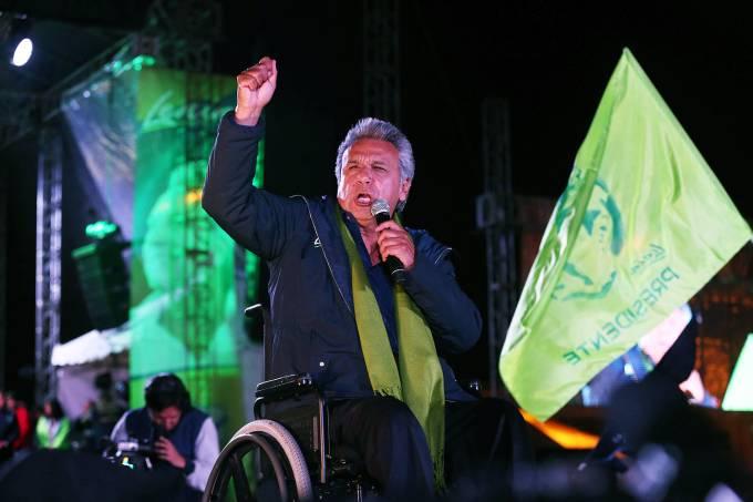 O candidato governista de esquerda, Lenín Moreno