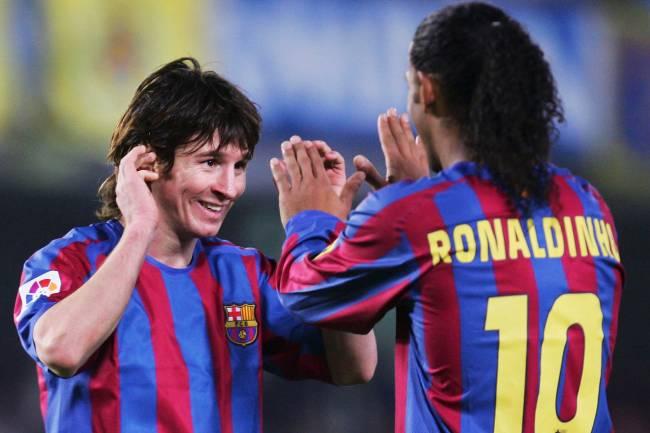 Messi e Ronaldinho Gaúcho