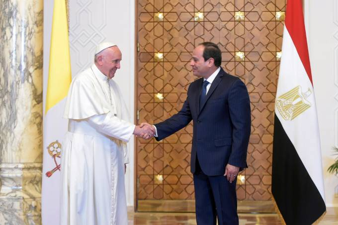 Papa Francisco visita o Egito