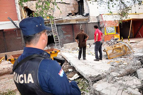 Polícia inspeciona sede da Prosegur em Ciudad del Este, após um assalto
