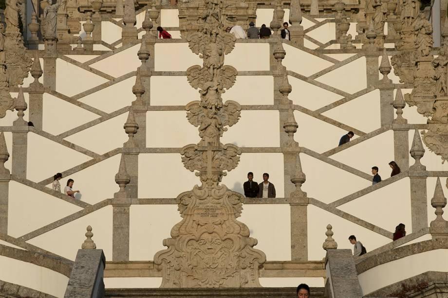 A escadaria do Santuário de Bom Jesus do Monte