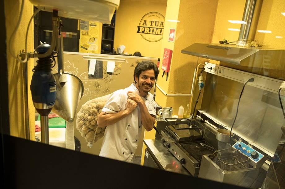 Filipe, chefe de cozinha em Porto