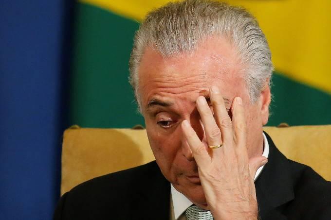 O presidente Michel Temer em São Paulo – 03/04/2017Brazil-Sweden Business Council at Bandeirantes Palace in Sao Paulo