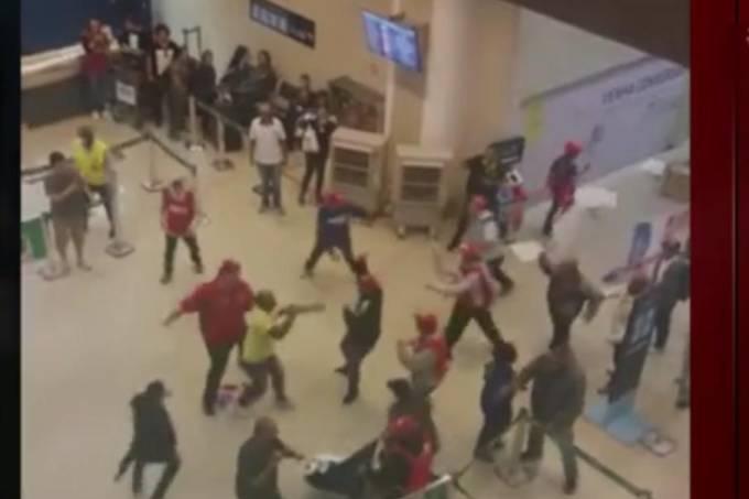 Confusão no Aeroporto Santos Dummunto no Rio