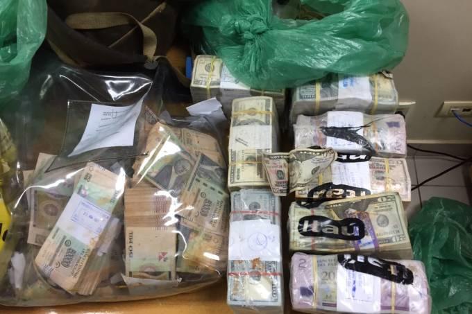 Dólares roubados no Paraguai