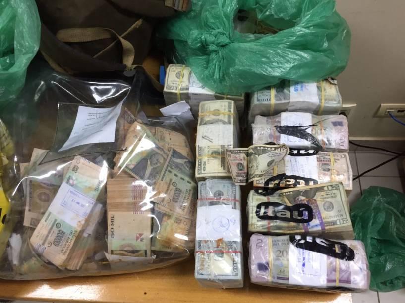 Dólares roubados no Paraguai da transportadora de valores Prosegur