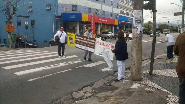 Greve geral 28/04: manifestantes no hospital Cachoeirinha