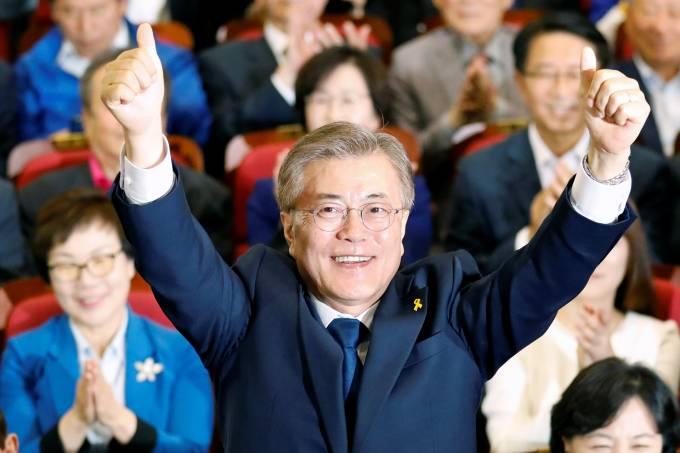 Moon Jae-in, candidato do Partido Democrático da Coreia do Sul à Presidência