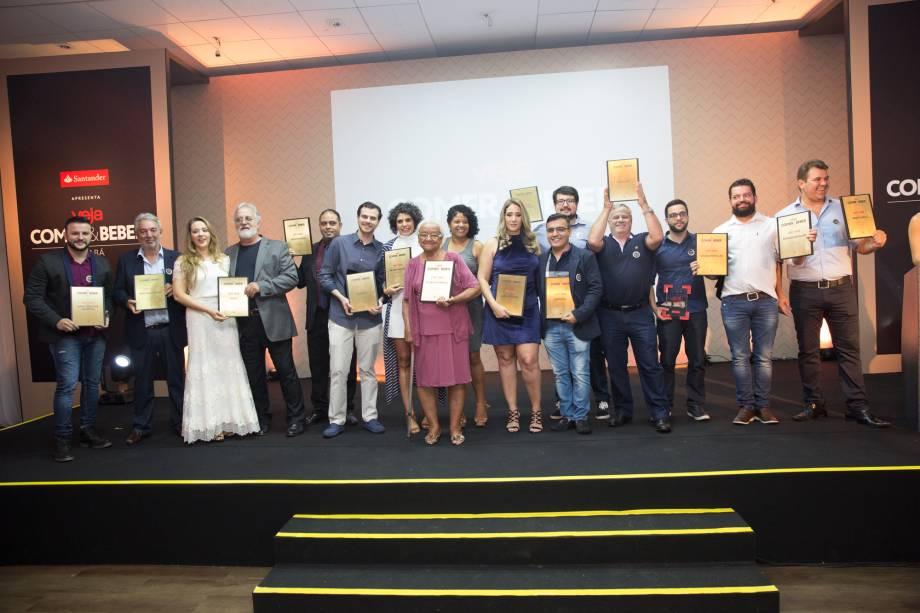 Os dezesseis premiados de VEJA COMER & BEBER Cuiabá 2017/2018: noite de festa