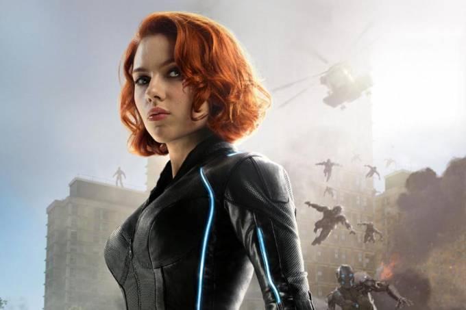 Scarlett Johansson como Viúva Negra no filme 'Os vingadores 2'