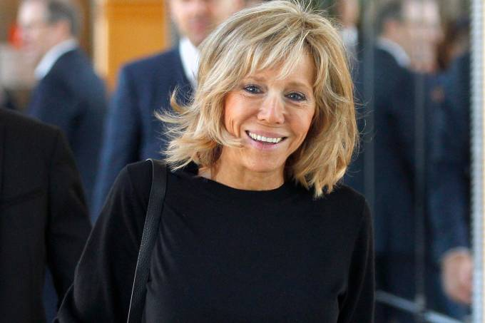 Brigitte Macron, esposa de Emmanuel Macron, presidente da França