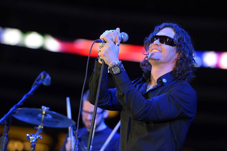Chris Cornell, vocalista da banda Audioslave, durante show na cidade de Arlington, no Texas