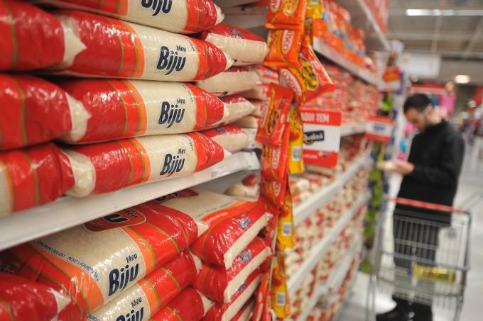 Compras em supermercado – Arroz