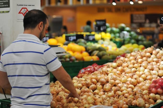 Compras em supermercado – Cebola