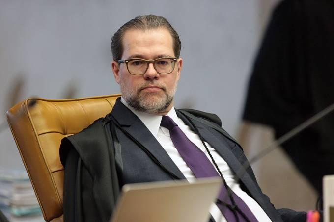 Ministro Dias Toffoli durante sessão no STF