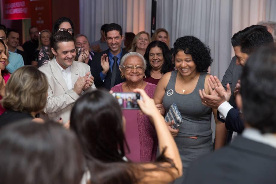 Dona Eulália: aos 83 anos, ela foi ovacionada pelos presentes
