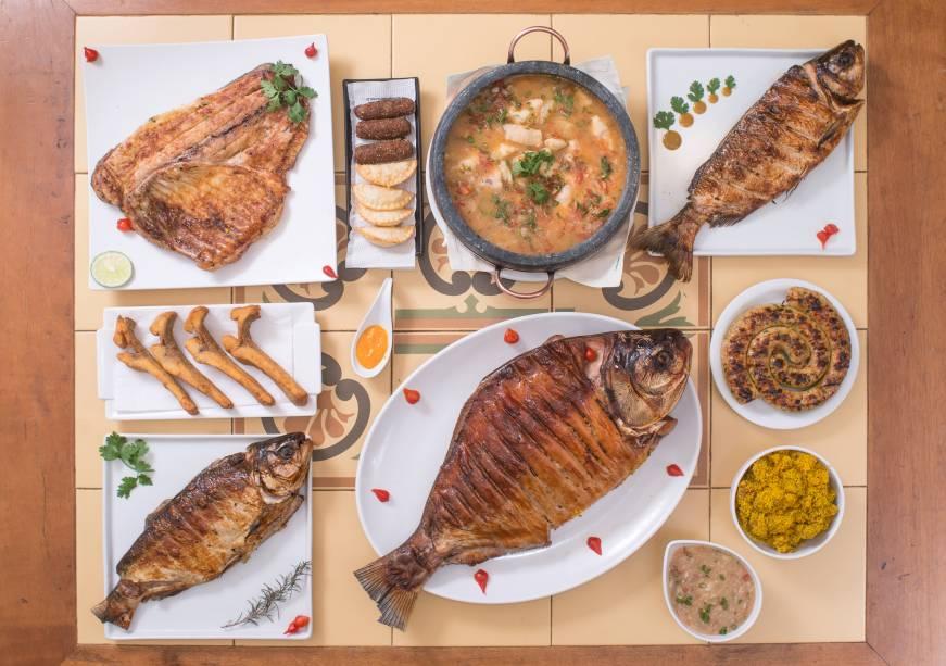 Lélis Peixaria: mais de28 receitas preparadas com oito tipos de peixes