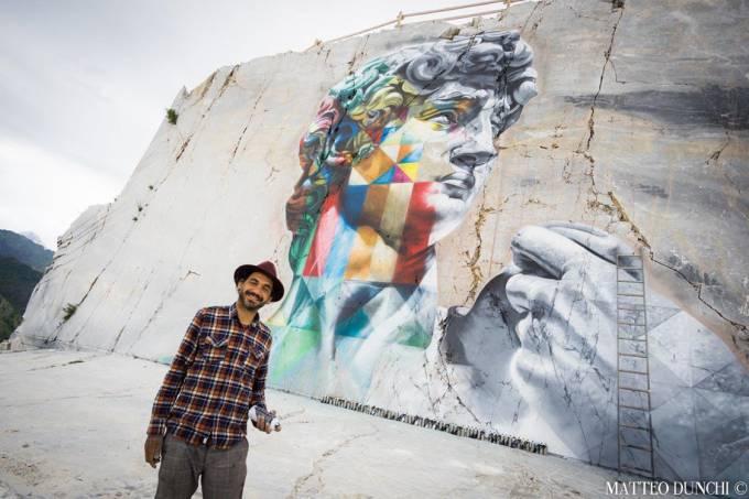 Novo mural do artista plástico Kobra em Carrara, Itália