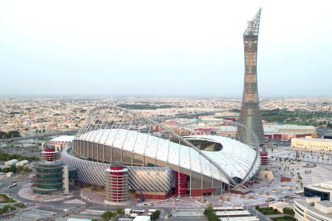 Estádio Internacional Khalifa em Doha,no Catar