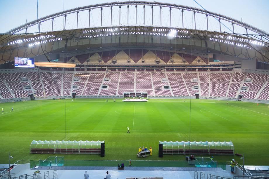 Vista geral do Estádio Internacional Khalifa em Doha, no Catar