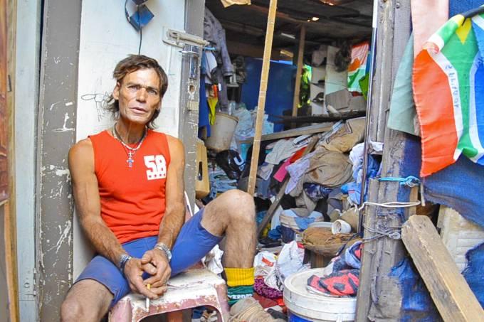 Favela Pango Camp, na África do Sul