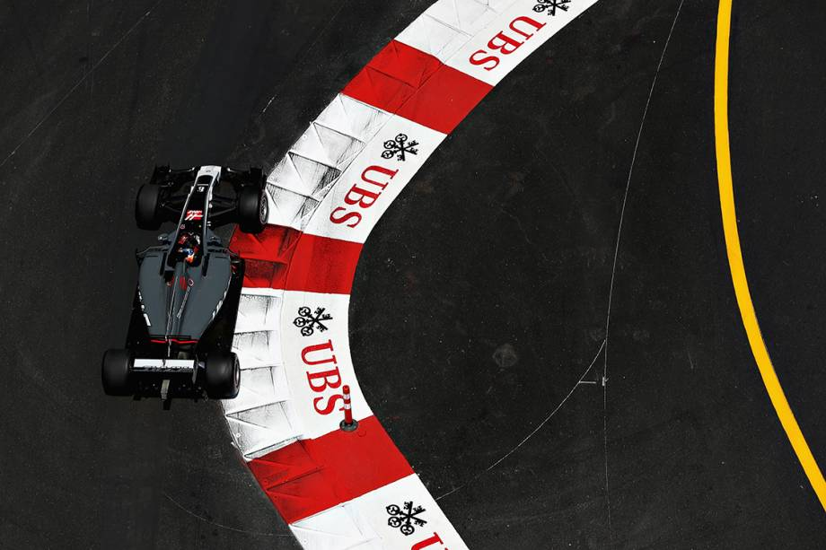 O francês Romain Grosjean durante o GP de Mônaco