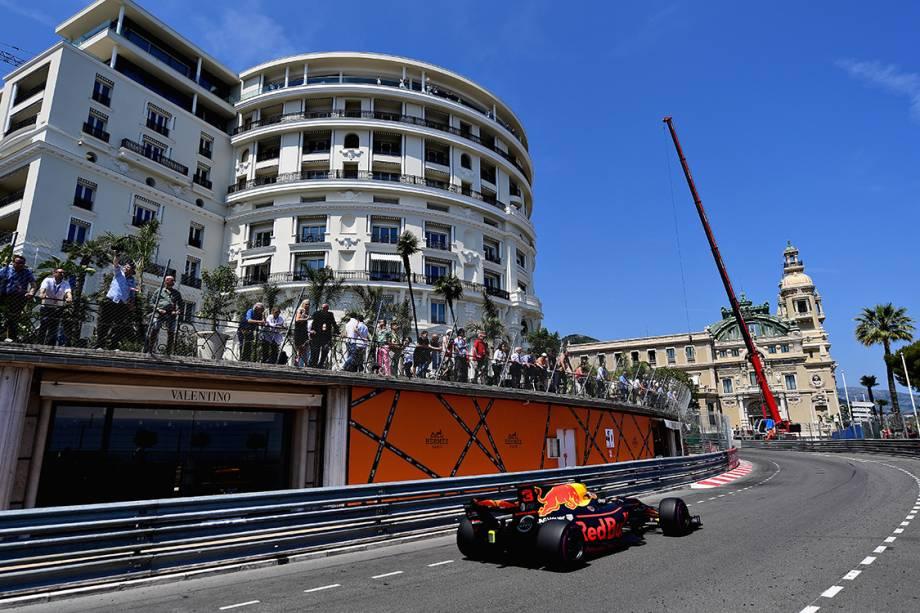 Daniel Ricciardo, da Red Bull Racing, durante o GP de Mônaco