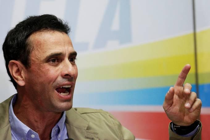 O líder da oposição na Venezuela, Henrique Capriles