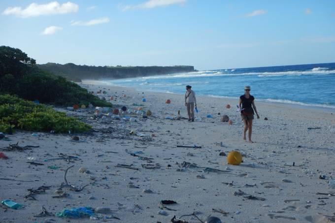Ilha remota britânica tem maior concentração de poluição
